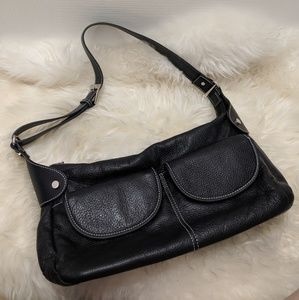 Maxx Black Leather Purse